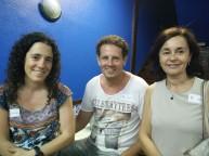 Estíbaliz M. junto David y Isabel, dos nuevos greeters